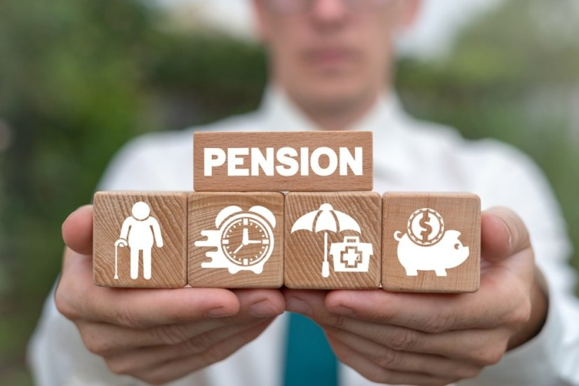 Concept of retirement planning. Pension savings and elderly fina
